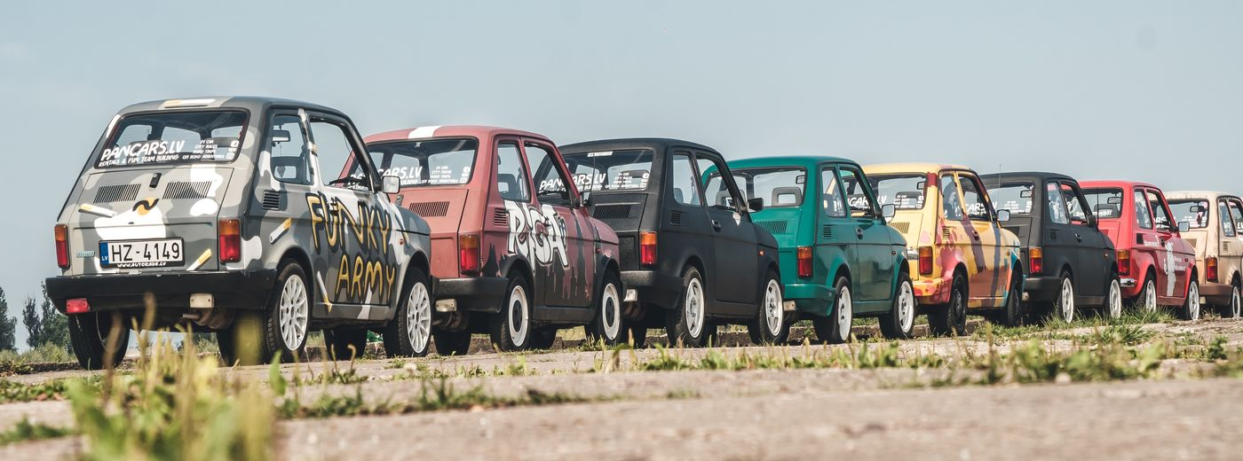 Pancars Rally Activity in Latvia colored backs