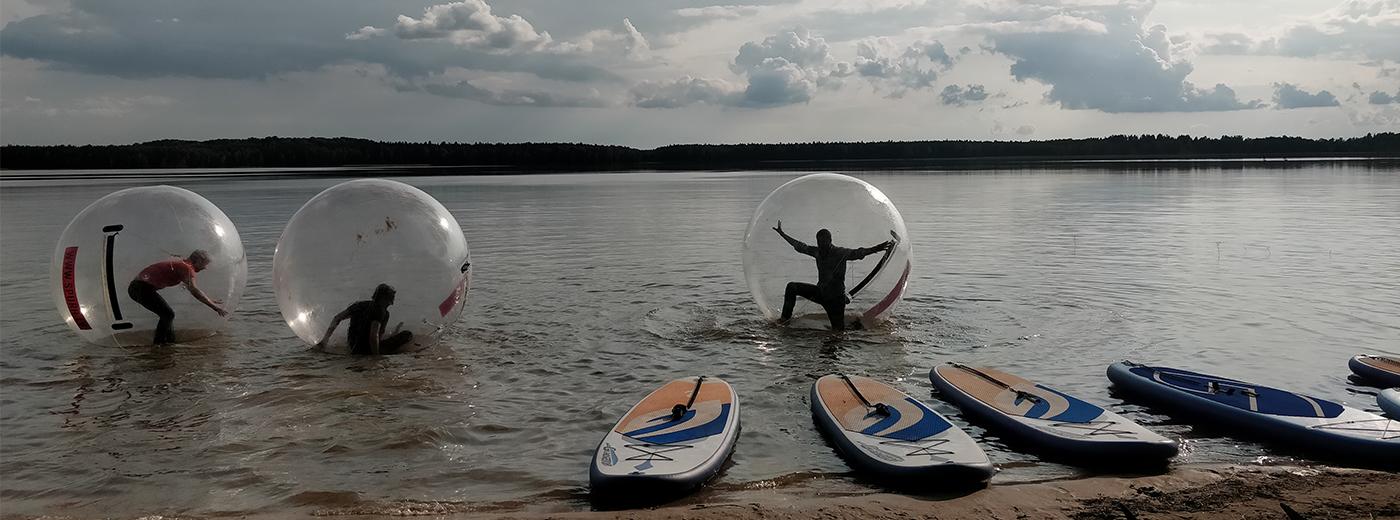 Water walking balls Lake